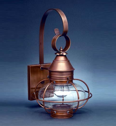 Northeast Lantern Onion' lanterns in raw copper